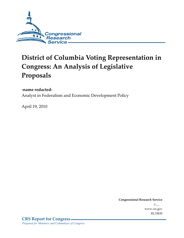 District Of Columbia Voting Representation In Congress An Analysis