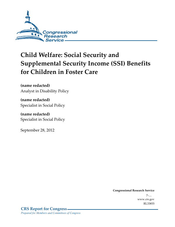 Child Welfare: Social Security and Supplemental Security