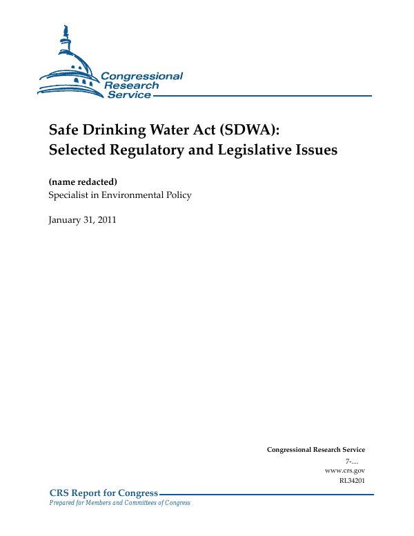 Reporting Standard Safe Drinking Water Report