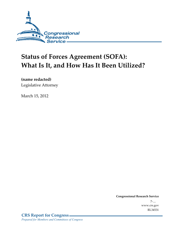 Status Of Forces Agreement Sofa What Is It And How Has It Been
