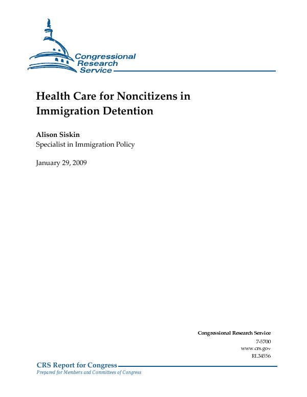 Health Care for Noncitizens in Immigration Detention