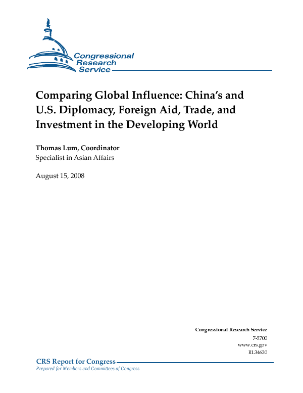 Comparing Global Influence Chinas And Us Diplomacy Foreign Aid