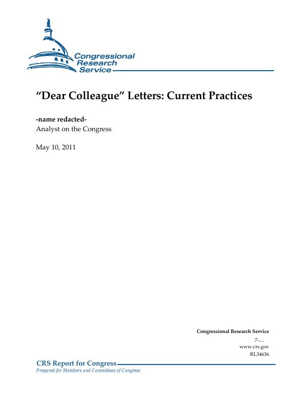 u201cdear colleague u201d letters  current practices