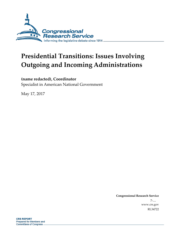 Presidential transitions issues involving outgoing and incoming presidential transitions issues involving outgoing and incoming administrations everycrsreport urtaz Choice Image