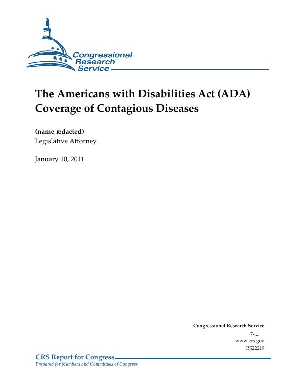 The Americans with Disabilities Act (ADA) Coverage of