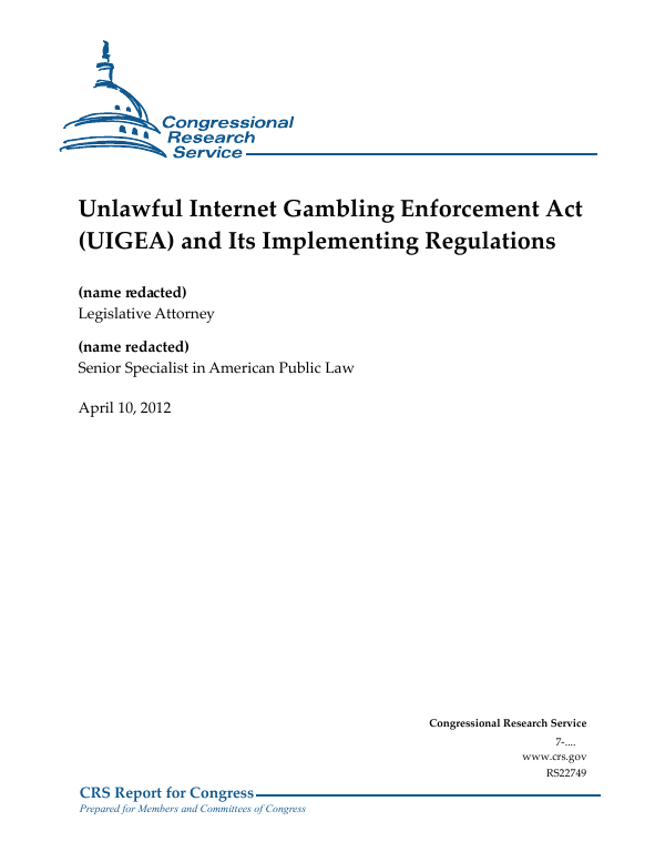 The federal framework for internet gambling password in casino royale